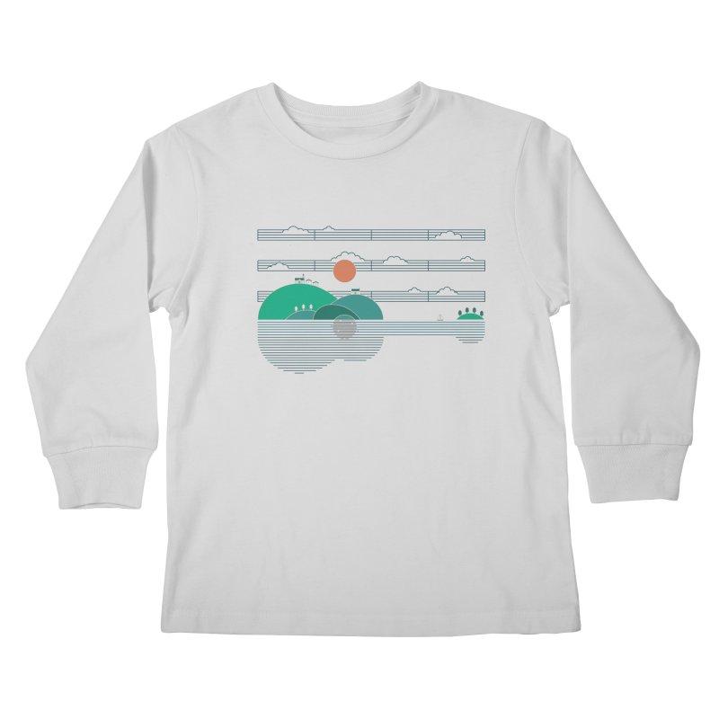 Island Folk Kids Longsleeve T-Shirt by thepapercrane's shop