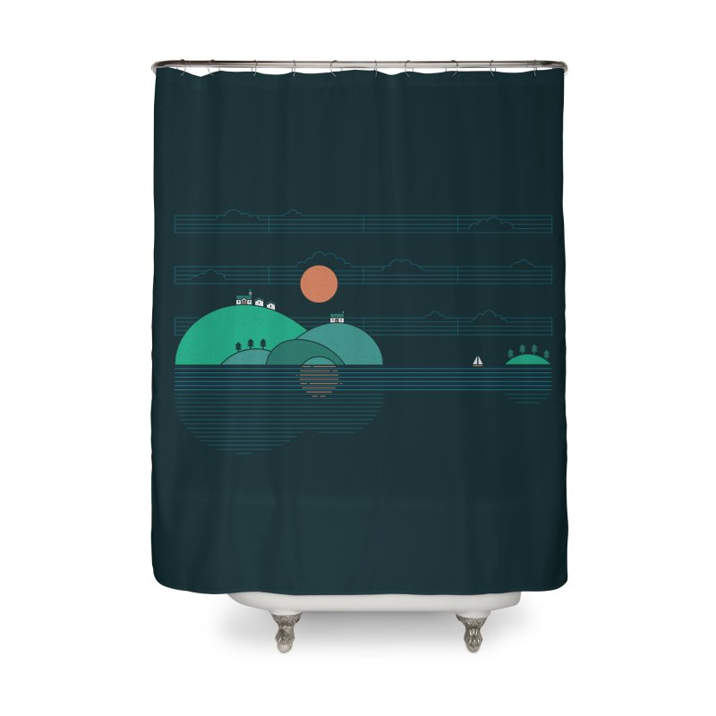 Island Folk Home Shower Curtain by thepapercrane's shop