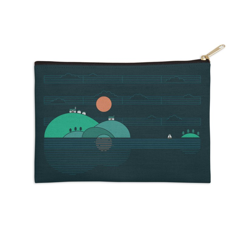 Island Folk Accessories Zip Pouch by thepapercrane's shop