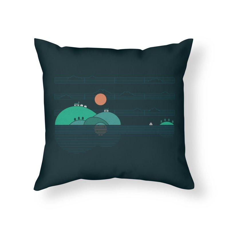 Island Folk Home Throw Pillow by thepapercrane's shop