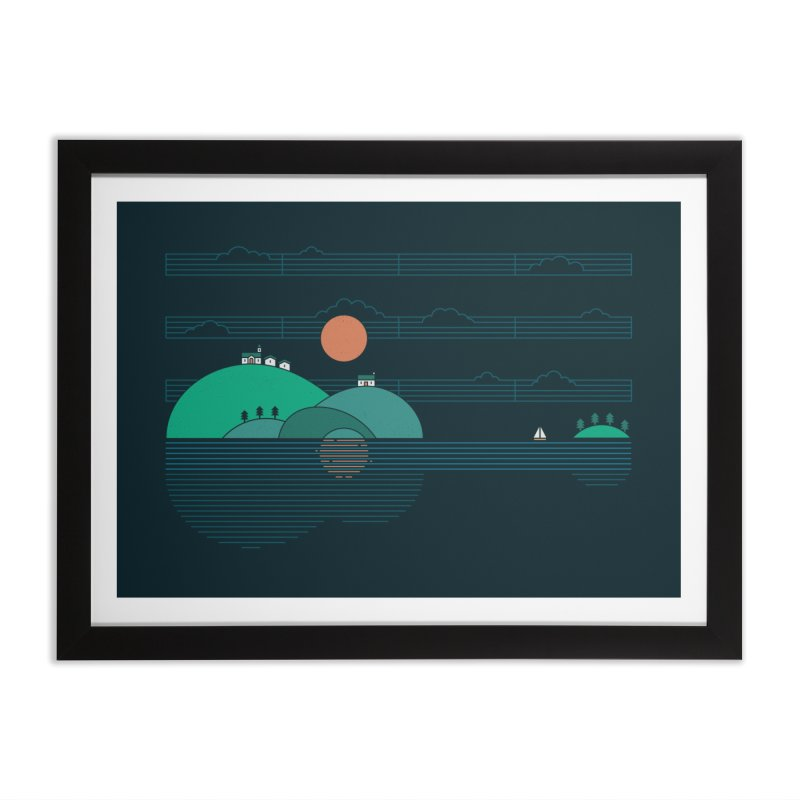 Island Folk Home Framed Fine Art Print by thepapercrane's shop