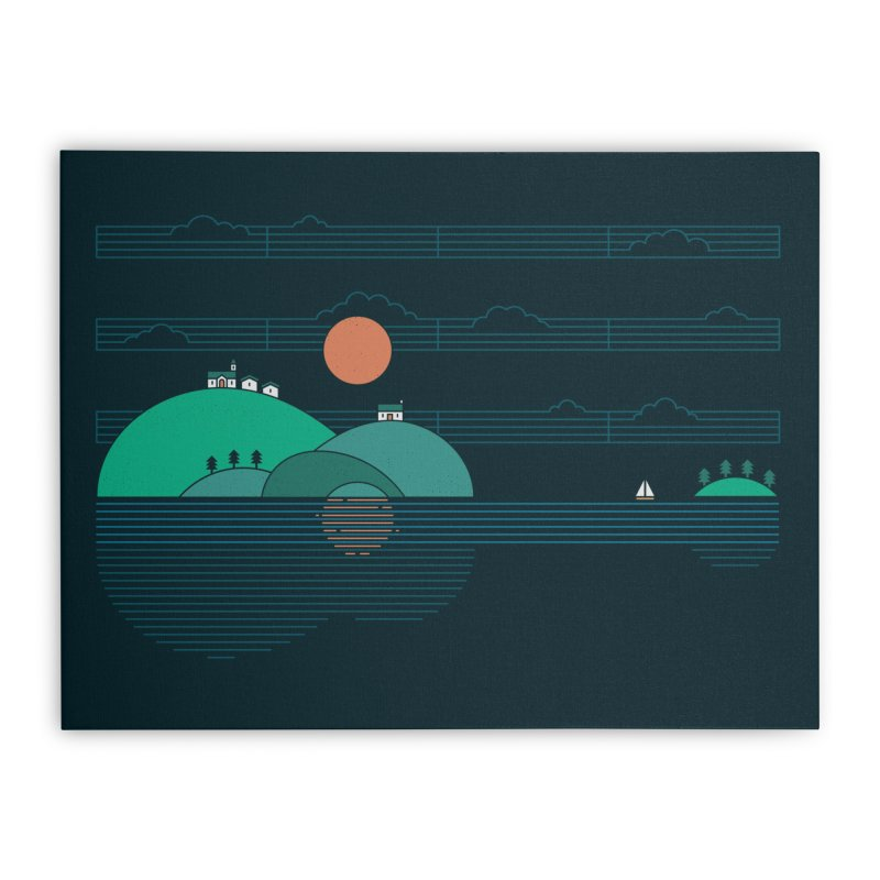Island Folk Home Stretched Canvas by thepapercrane's shop