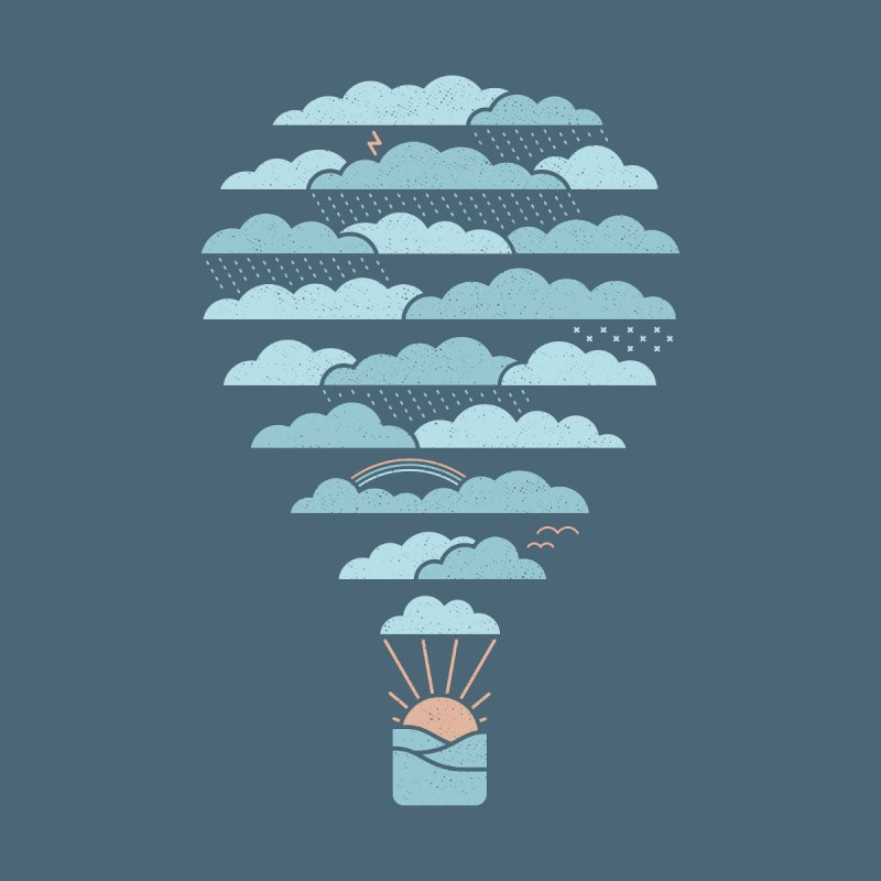 Weather Balloon Men's Tank by thepapercrane's shop