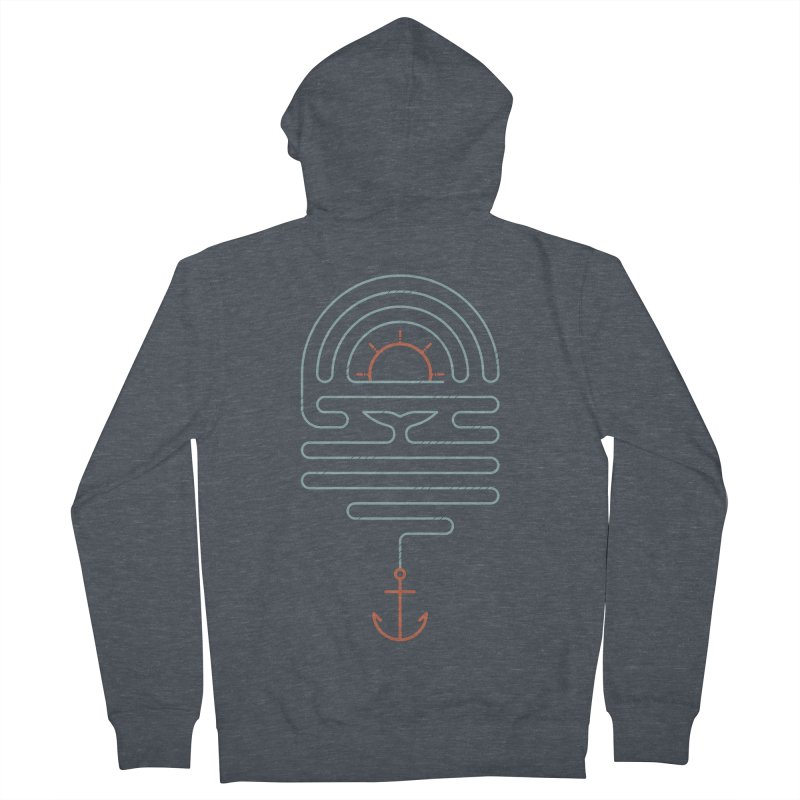 The Tale of the Whale Men's French Terry Zip-Up Hoody by thepapercrane's shop