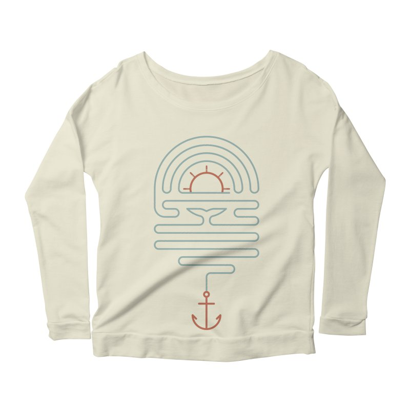 The Tale of the Whale Women's Scoop Neck Longsleeve T-Shirt by thepapercrane's shop