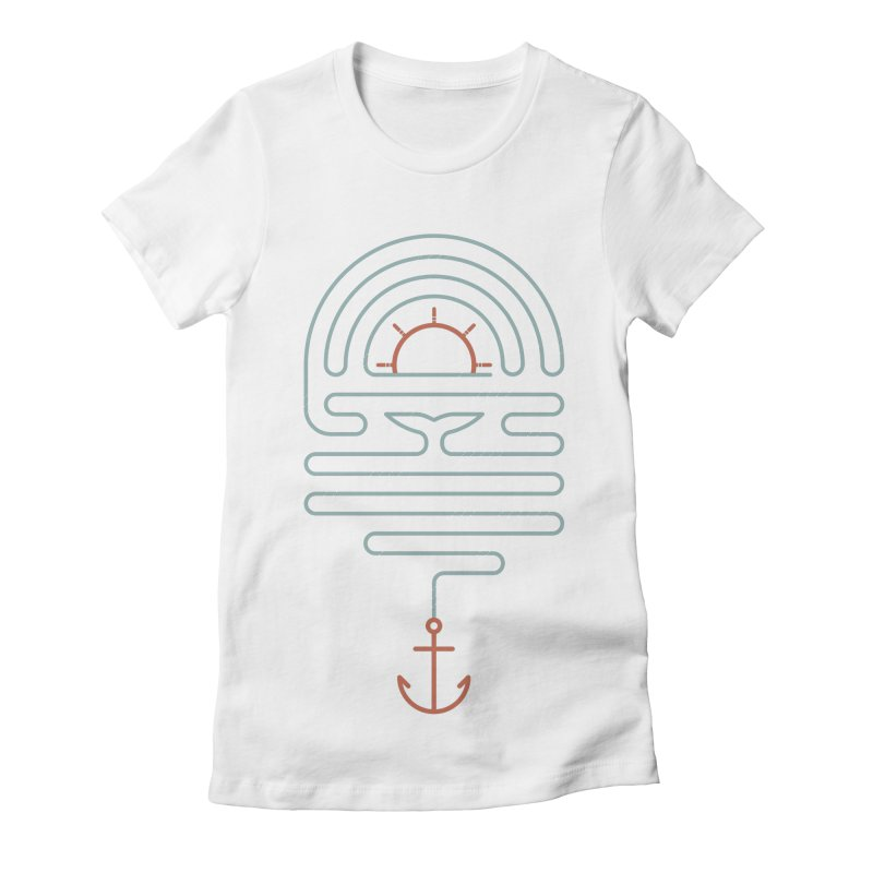 The Tale of the Whale Women's Fitted T-Shirt by thepapercrane's shop