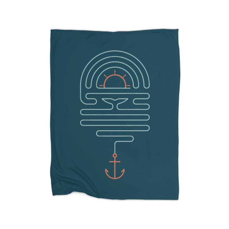 The Tale of the Whale Home Fleece Blanket Blanket by thepapercrane's shop