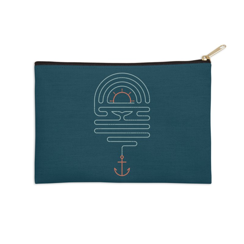 The Tale of the Whale Accessories Zip Pouch by thepapercrane's shop