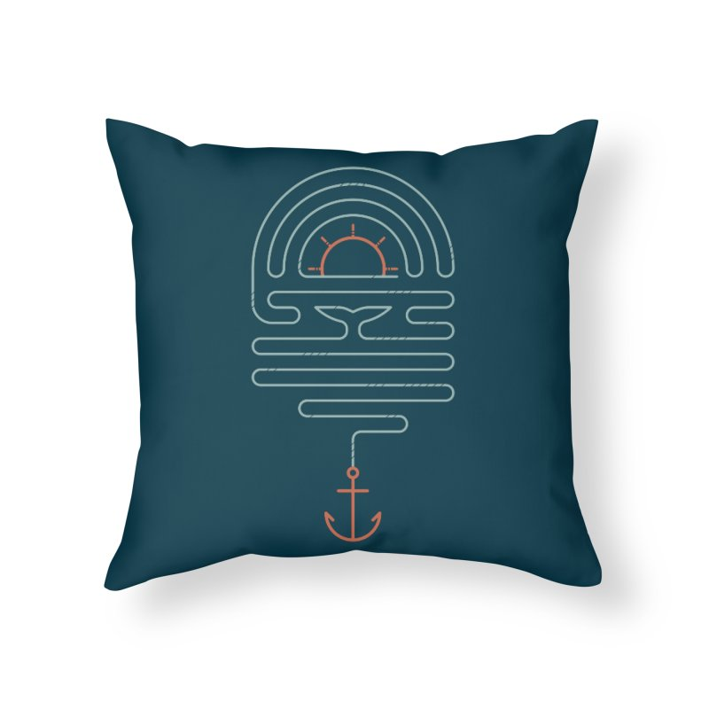 The Tale of the Whale Home Throw Pillow by thepapercrane's shop