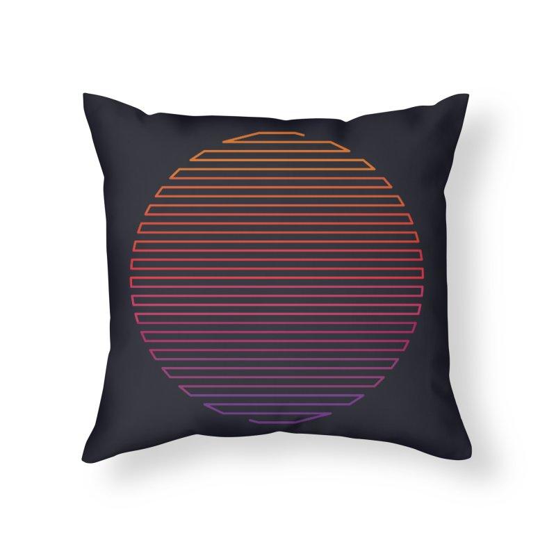 Linear Light Home Throw Pillow by thepapercrane's shop