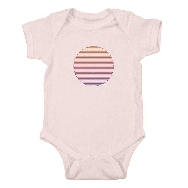 Linear Light Kids Baby Bodysuit by thepapercrane's shop