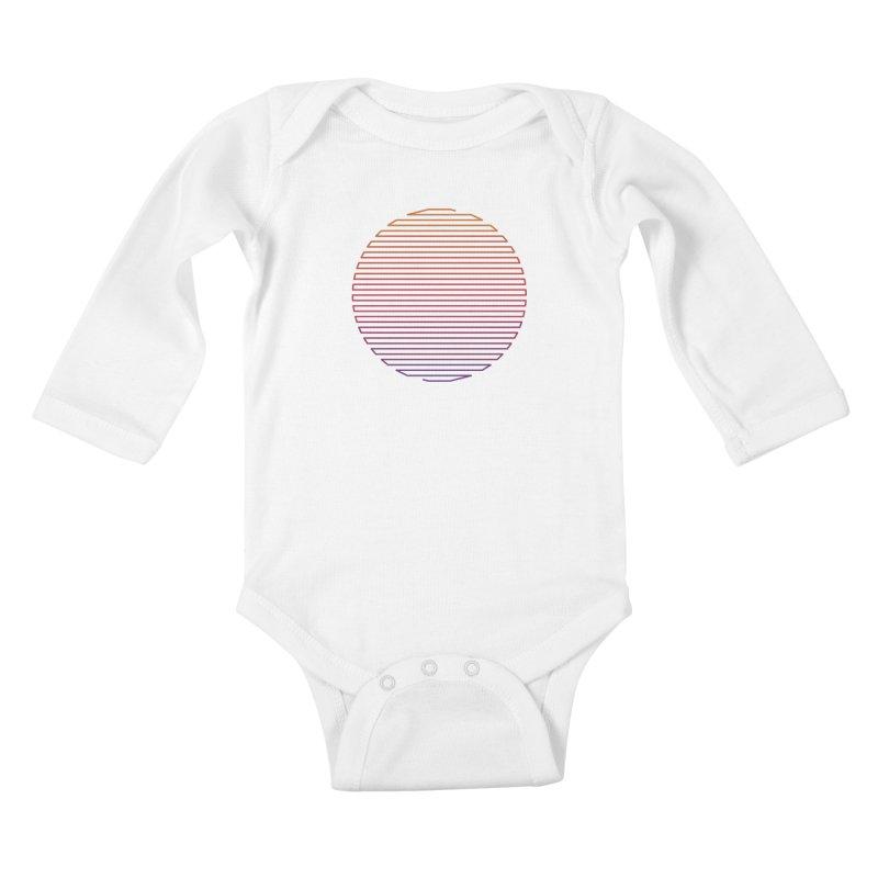 Linear Light Kids Baby Longsleeve Bodysuit by thepapercrane's shop