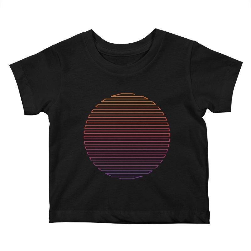 Linear Light Kids Baby T-Shirt by thepapercrane's shop