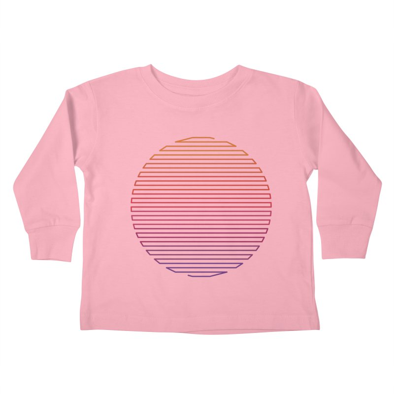 Linear Light Kids Toddler Longsleeve T-Shirt by thepapercrane's shop
