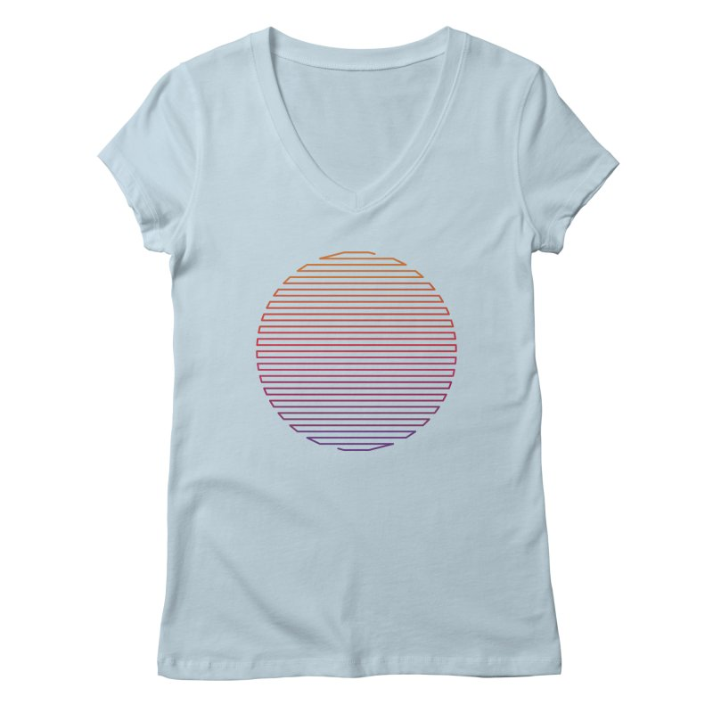 Linear Light Women's V-Neck by thepapercrane's shop