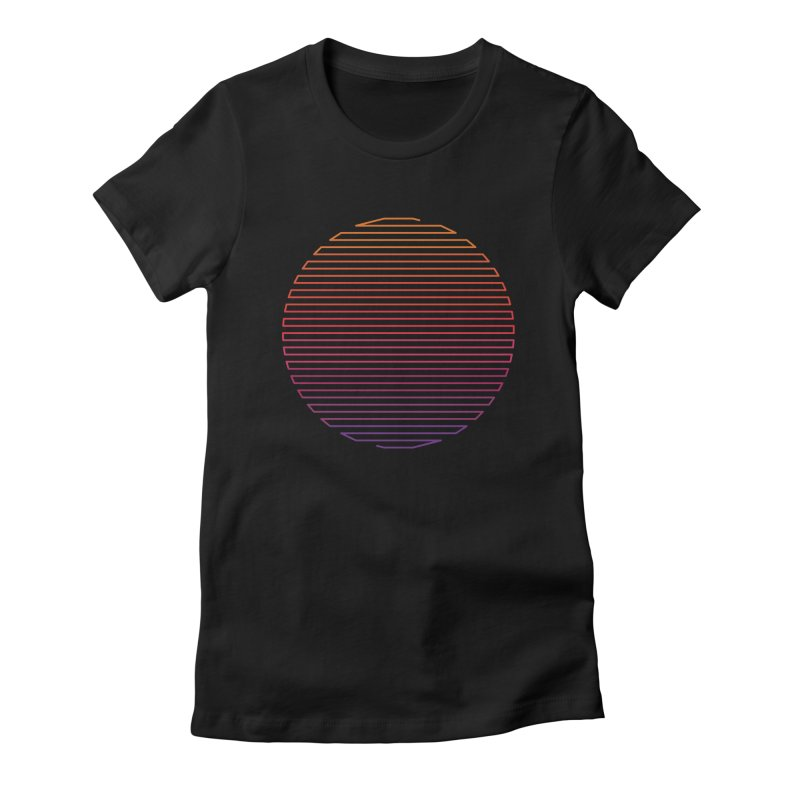 Linear Light Women's Fitted T-Shirt by thepapercrane's shop