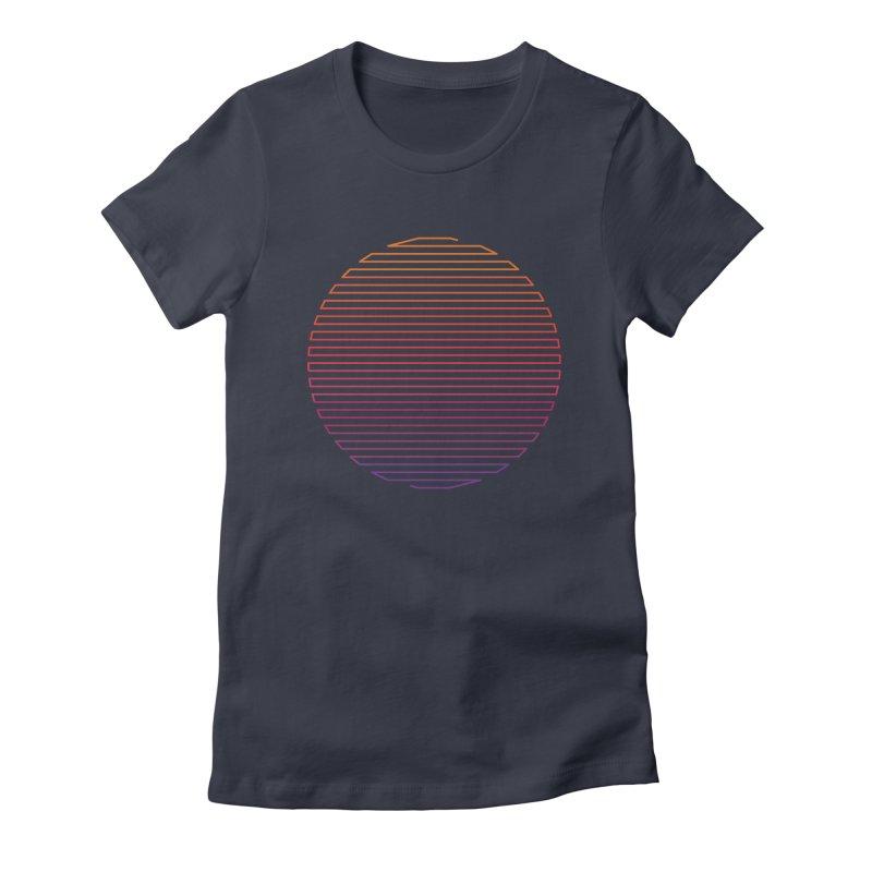 Linear Light Women's Fitted T-Shirt by thepapercrane's shop
