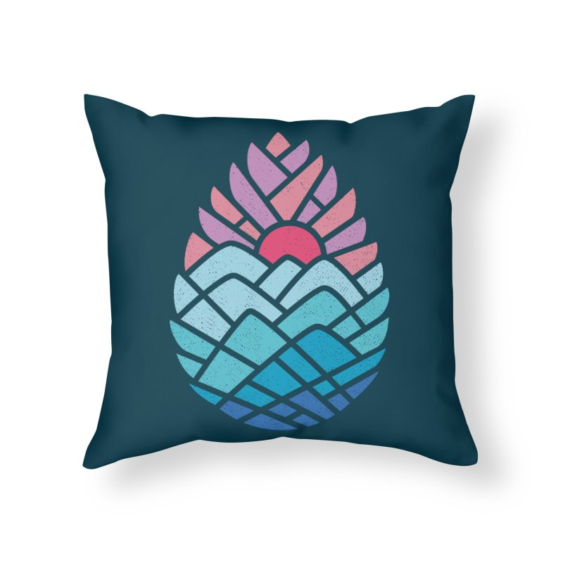 Alpine Home Throw Pillow by thepapercrane's shop