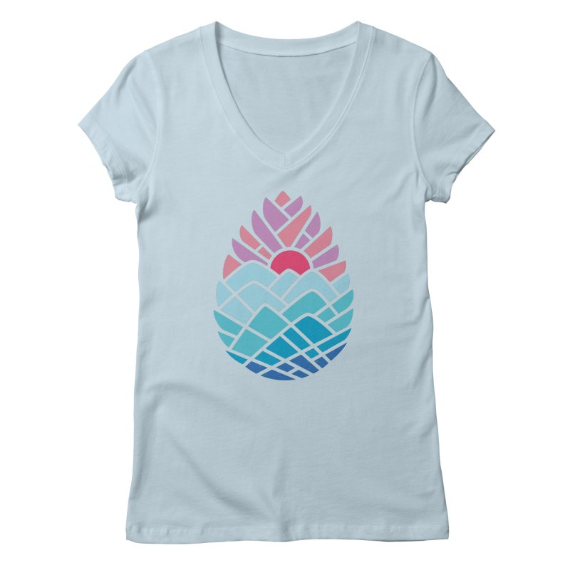 Alpine Women's V-Neck by thepapercrane's shop