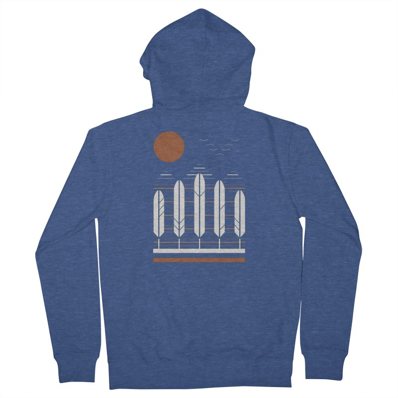 Snow Geese Men's French Terry Zip-Up Hoody by thepapercrane's shop