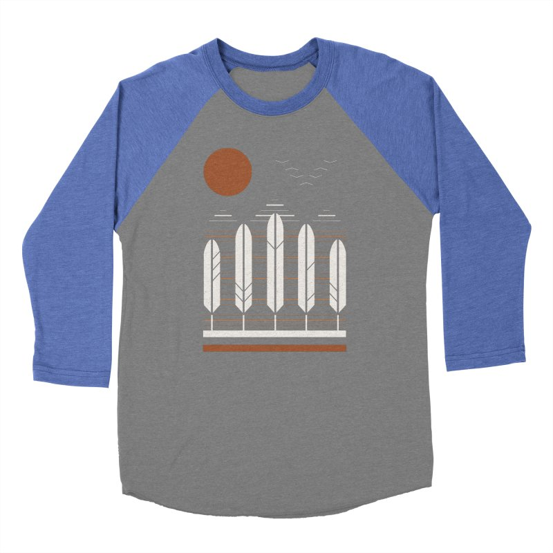 Snow Geese Women's Baseball Triblend T-Shirt by thepapercrane's shop