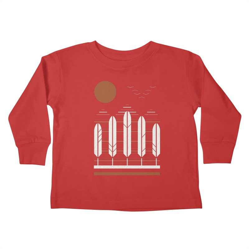 Snow Geese Kids Toddler Longsleeve T-Shirt by thepapercrane's shop