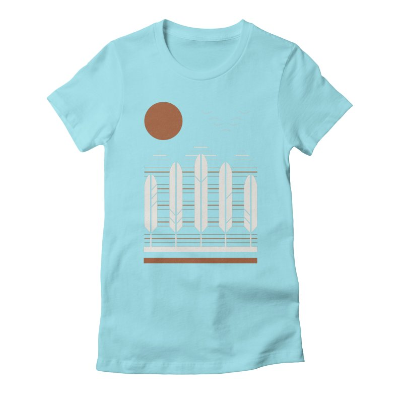 Snow Geese Women's Fitted T-Shirt by thepapercrane's shop