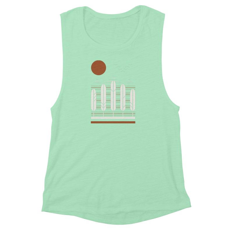 Snow Geese Women's Muscle Tank by thepapercrane's shop