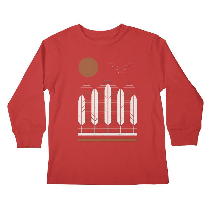 Snow Geese Kids Longsleeve T-Shirt by thepapercrane's shop