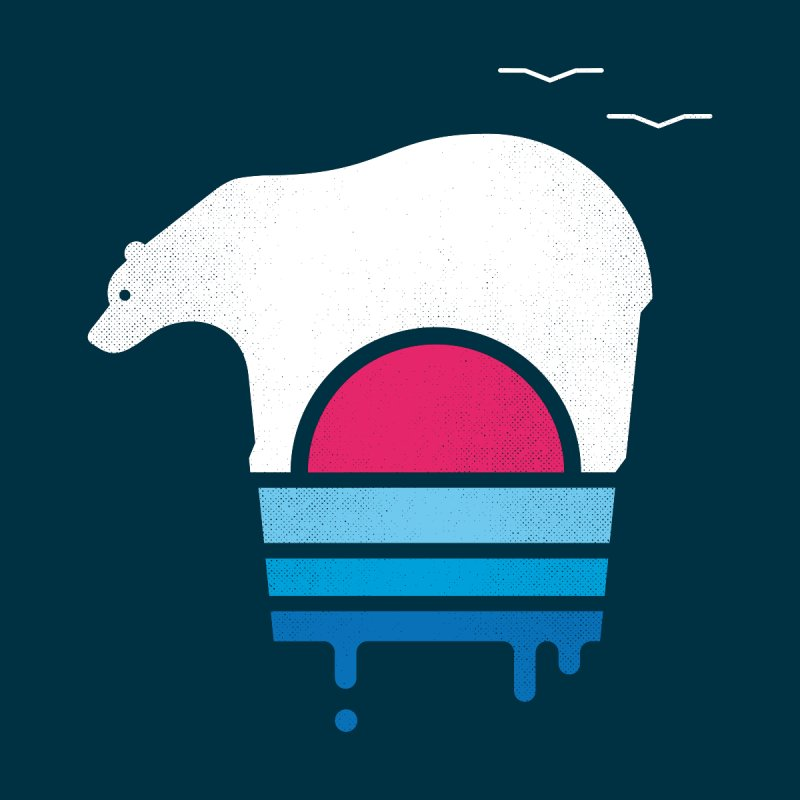 Polar Melt Kids T-Shirt by thepapercrane's shop