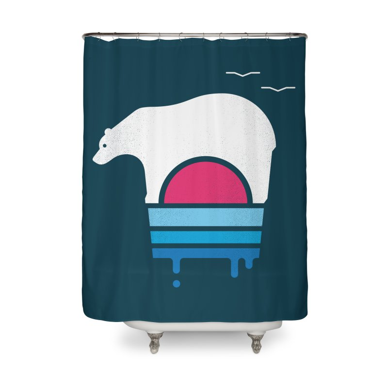 Polar Melt Home Shower Curtain by thepapercrane's shop