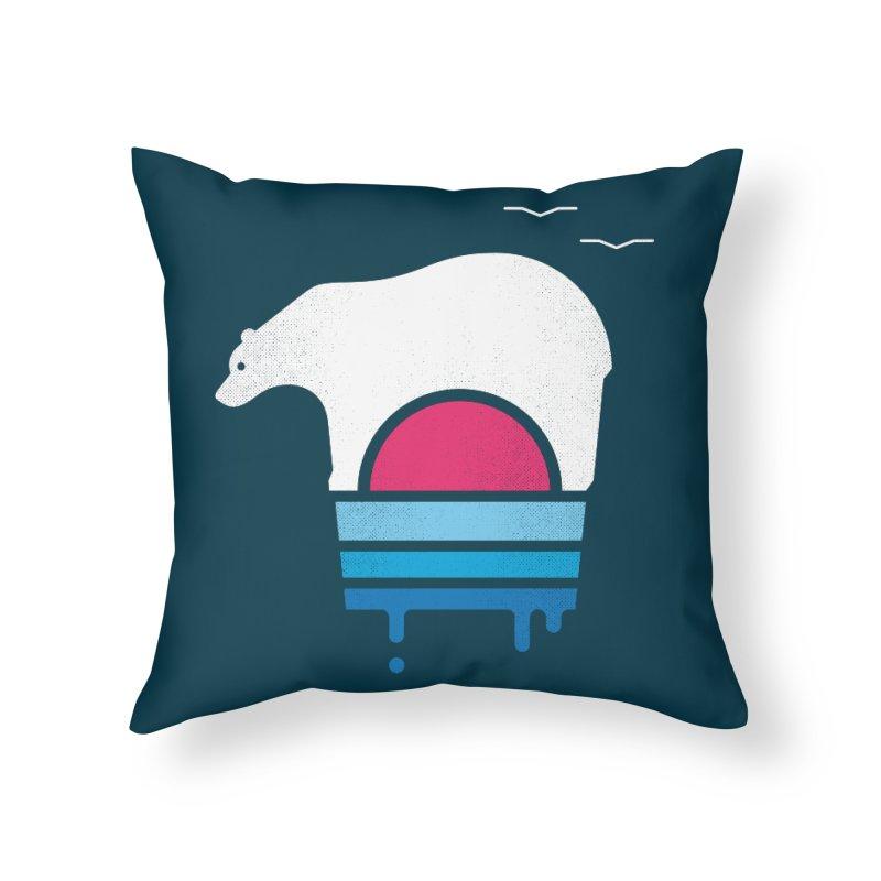 Polar Melt Home Throw Pillow by thepapercrane's shop