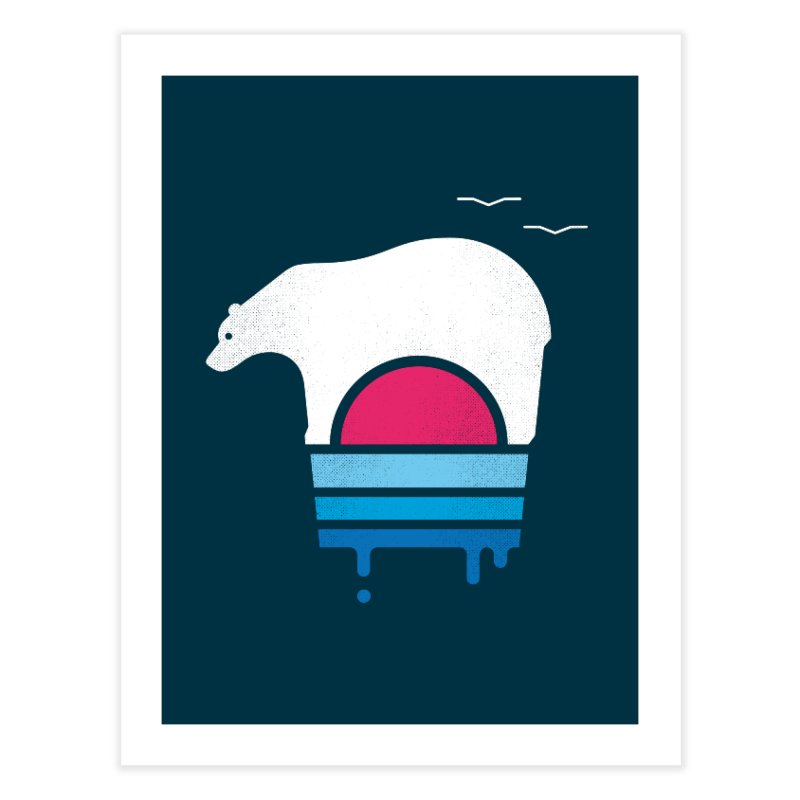 Polar Melt Home Fine Art Print by thepapercrane's shop