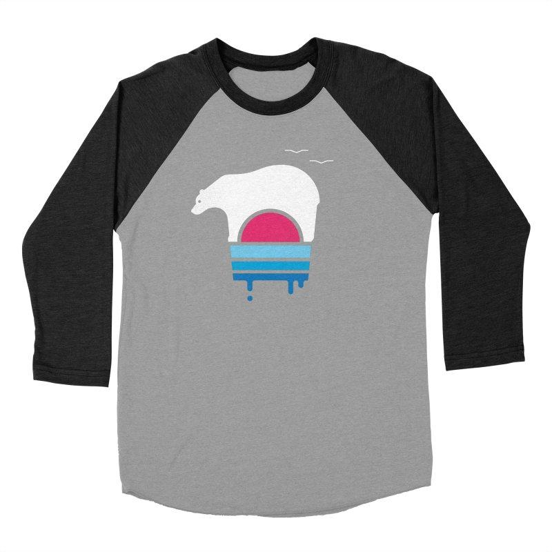Polar Melt Men's Baseball Triblend Longsleeve T-Shirt by thepapercrane's shop