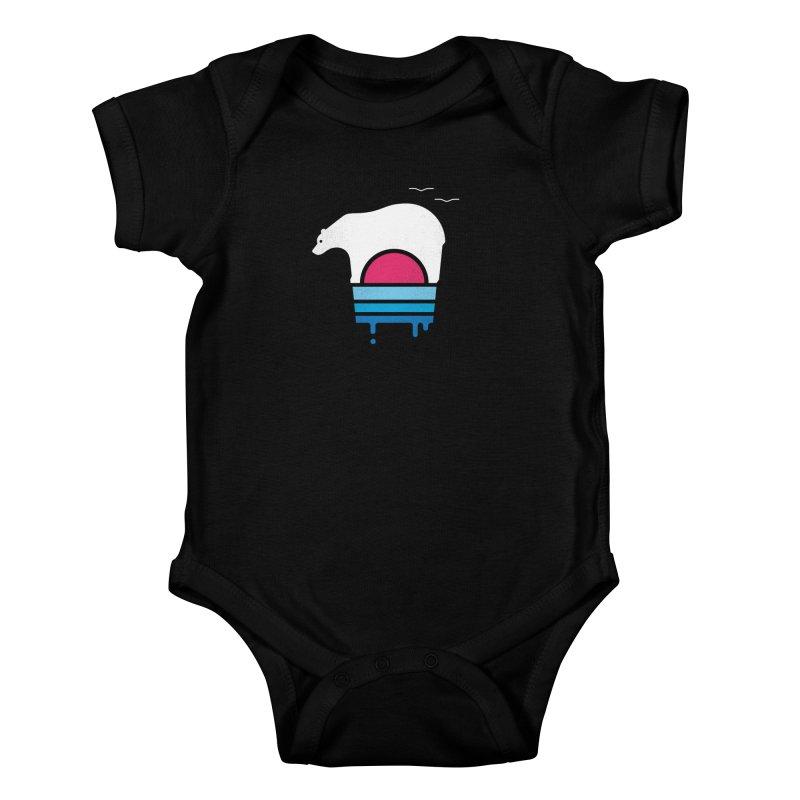 Polar Melt Kids Baby Bodysuit by thepapercrane's shop