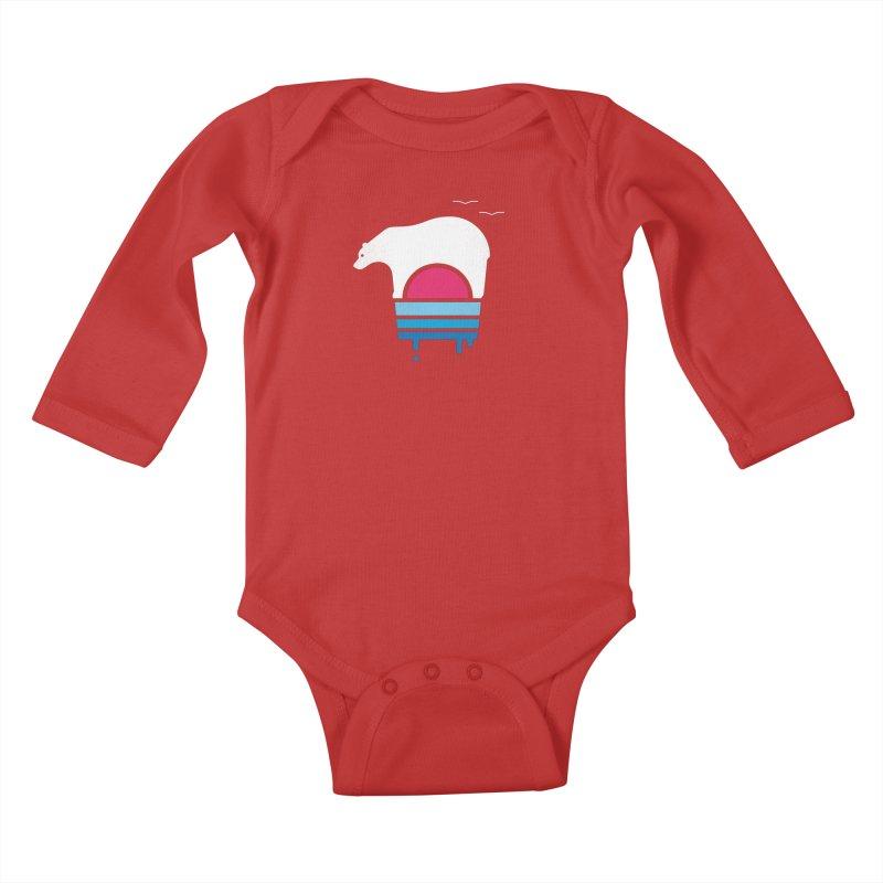 Polar Melt Kids Baby Longsleeve Bodysuit by thepapercrane's shop