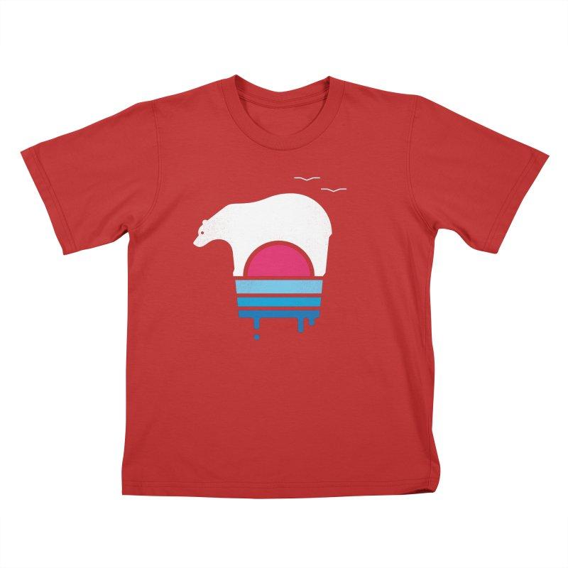 Polar Melt Kids T-Shirt by thepapercrane's shop