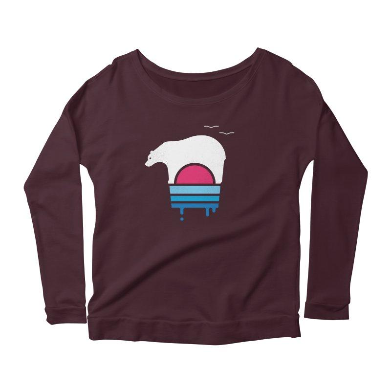Polar Melt Women's Scoop Neck Longsleeve T-Shirt by thepapercrane's shop