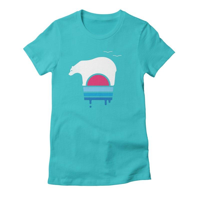 Polar Melt Women's Fitted T-Shirt by thepapercrane's shop