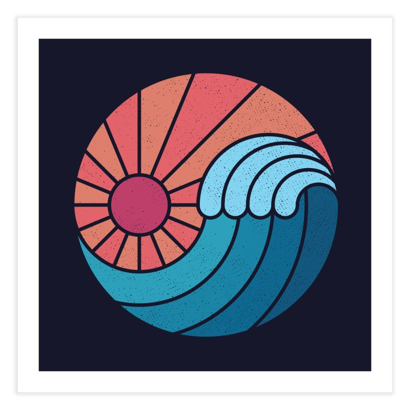 Sun & Sea Home Fine Art Print by thepapercrane's shop