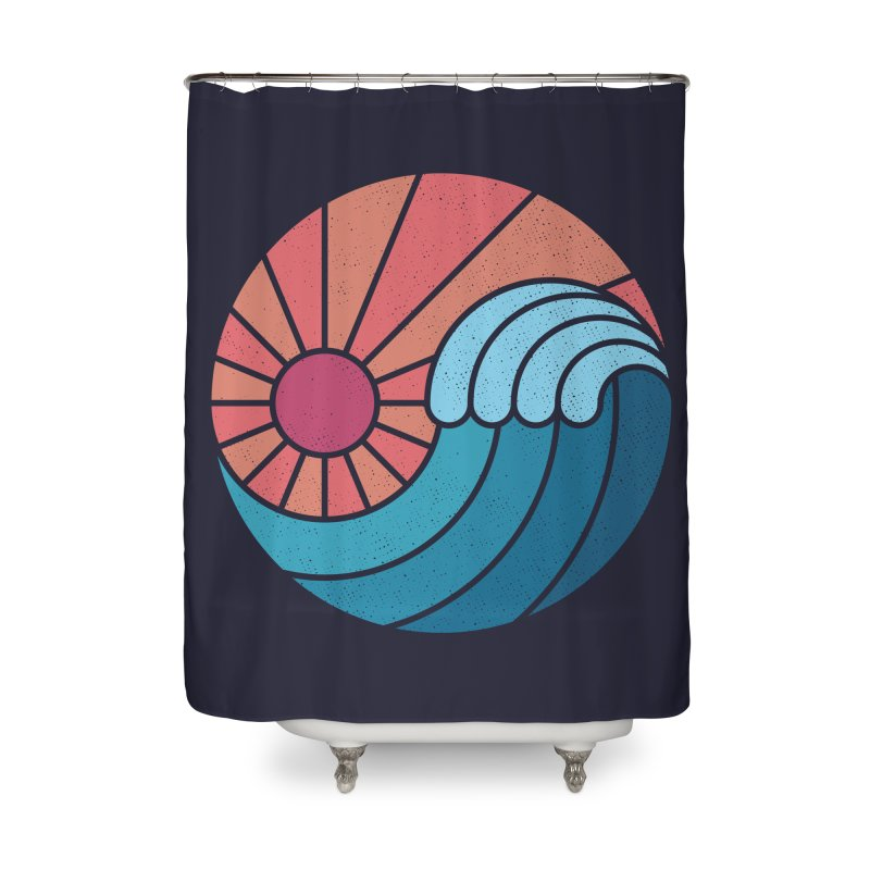 Sun & Sea Home Shower Curtain by thepapercrane's shop
