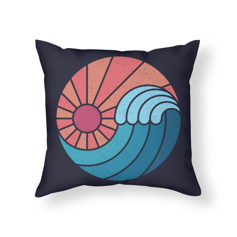 Sun & Sea Home Throw Pillow by thepapercrane's shop