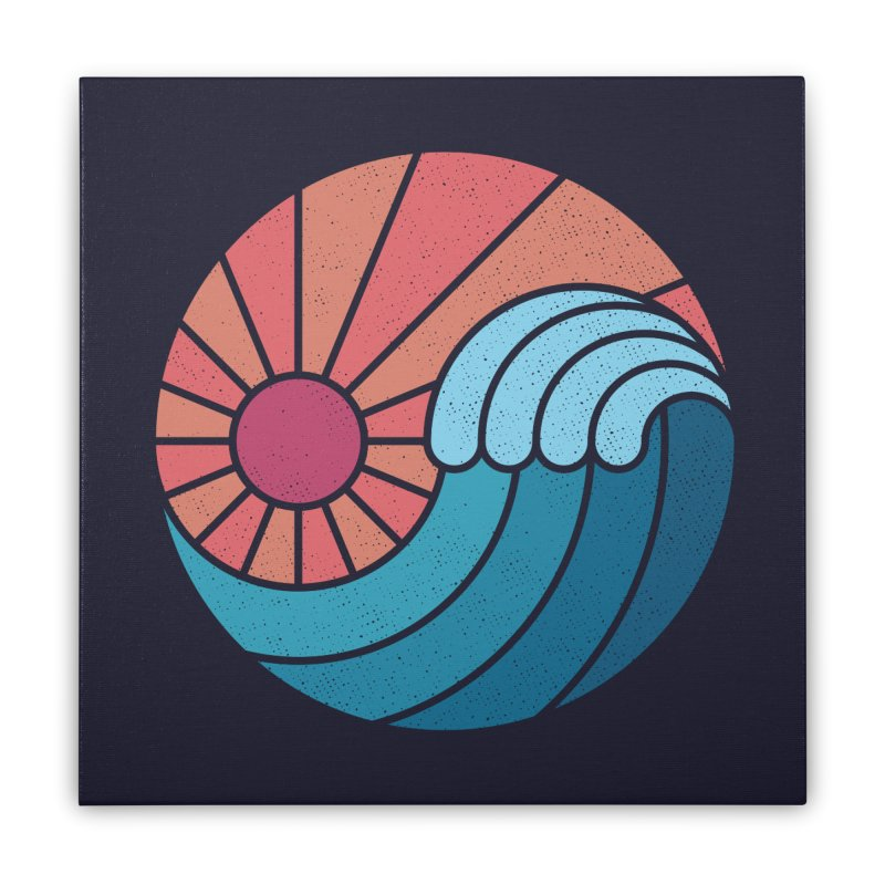 Sun & Sea Home Stretched Canvas by thepapercrane's shop