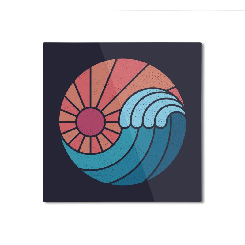 Sun & Sea Home Mounted Aluminum Print by thepapercrane's shop