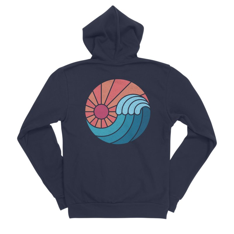 Sun & Sea Women's Sponge Fleece Zip-Up Hoody by thepapercrane's shop