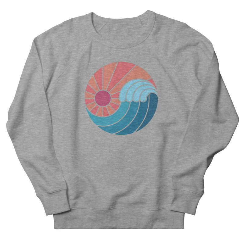 Sun & Sea Men's French Terry Sweatshirt by thepapercrane's shop