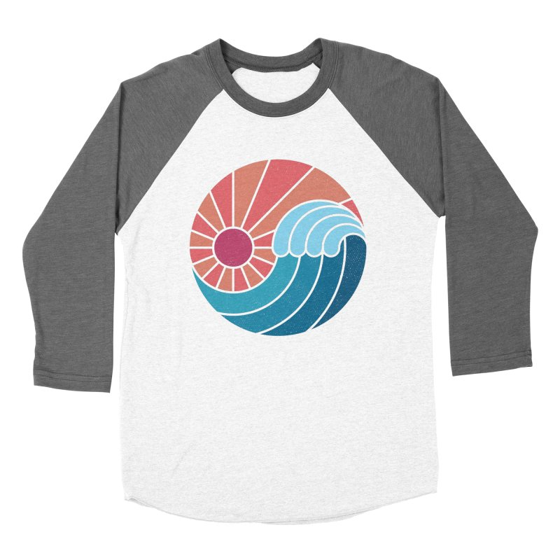 Sun & Sea Women's Baseball Triblend Longsleeve T-Shirt by thepapercrane's shop