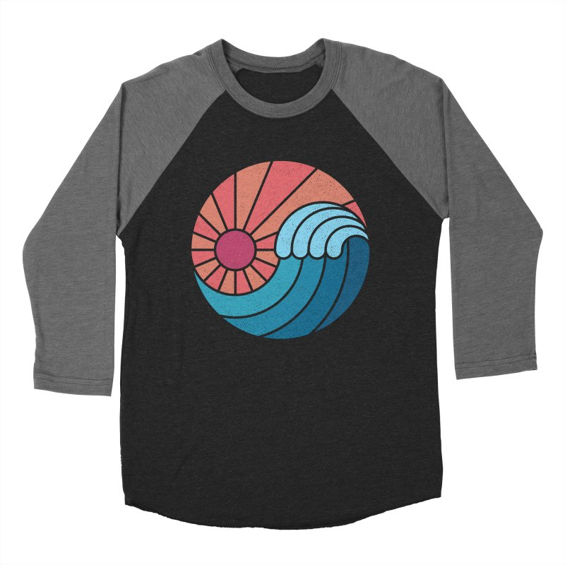 Sun & Sea Women's Baseball Triblend T-Shirt by thepapercrane's shop