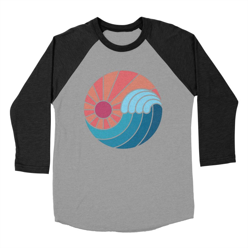 Sun & Sea Women's Baseball Triblend Longsleeve T-Shirt by thepapercrane's shop
