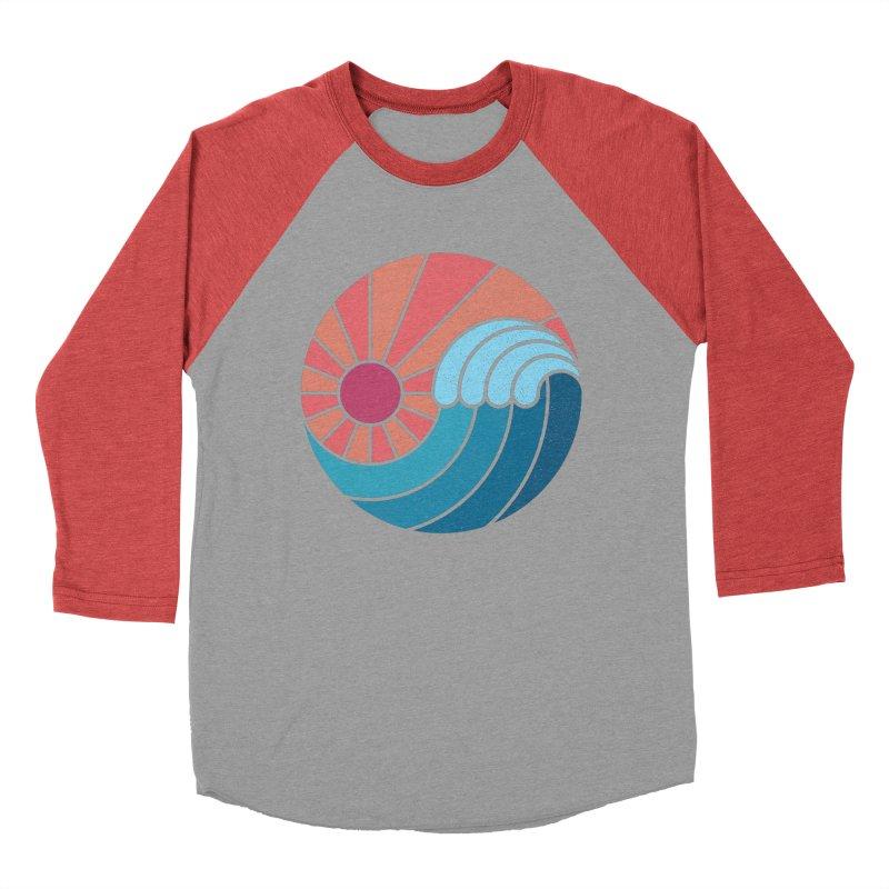 Sun & Sea Men's Baseball Triblend Longsleeve T-Shirt by thepapercrane's shop